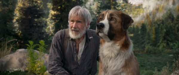 Harrison Ford (links) mit Filmhund Buck (rechts) (Foto: 20th Century Studios/Disney)