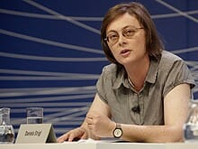 Bachmann-Preis-Jurorin Daniela Strigl (Foto: Johannes Puch/bachmannpreis.eu)