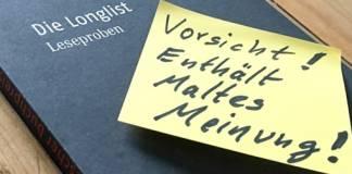 Maltes Meinung: Die Longlist zum Deutschen Buchpreis 2016 (2/4)