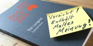 Maltes Meinung: Die Longlist zum Deutschen Buchpreis 2016 (1/4)