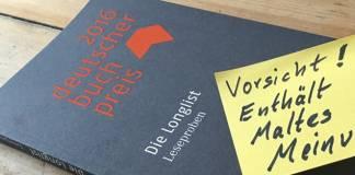 Maltes Meinung: Die Longlist zum Deutschen Buchpreis 2016 (5/5)