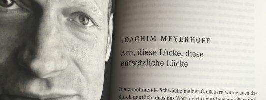 Joachim Meyerhoff: Ach diese Lücke, diese entsetzliche Lücke