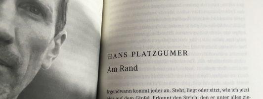 Hans Platzgumer: Am Rand