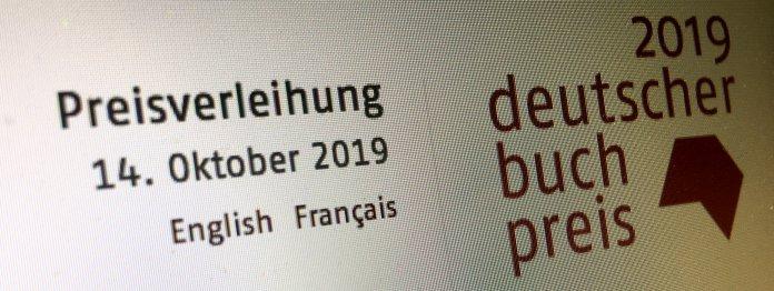 Die Longlist zum Deutschen Buchpreis 2019