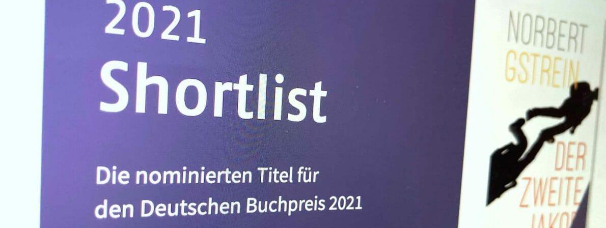 Blick auf die Shortlist des Deutschen Buchpreises 2021