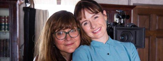 Drehbuchautorin und Regisseurin Isabel Coixet (links) und Hauptdarstellerin Emily Mortimer (Foto: Lisbeth Salas)