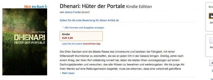 Das Buch bei Amazon (Screenshot vom 23. Januar 2019)