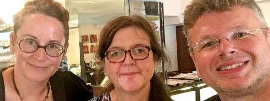 Andrea Diener, Doris Brockmann und Wolfgang Tischer