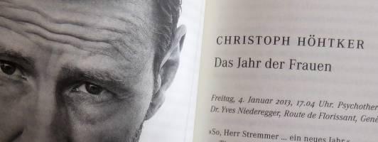 Christoph Höhtker: Das Jahr der Frauen