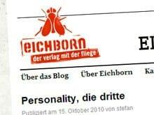 Der Eichborn Verlag hat unlängst das Eichblog gestartet