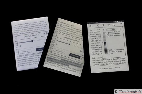 E-Reader bei Nacht