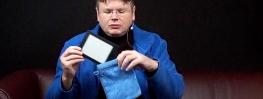 Ein E-Reader ist auch in einem Waschlappen gut geschützt