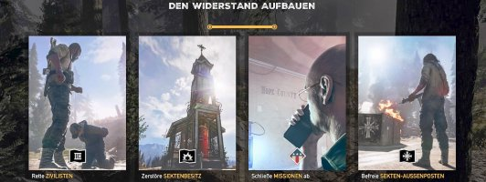 Den Widerstand aufbauen: Bekannte Spielmechanik der Far-Cry-Reihe.
