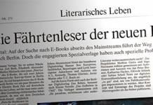 Lesetipp: Die FAZ über E-Book-Verlage