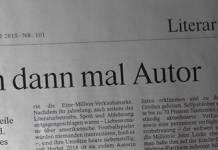 »Ich bin dann mal Autor« - FAZ vom 2. Mai 2015