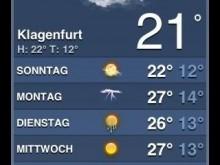 Ab Mittwoch wird für Klagenfurt das typische Bachmannlesewetter vorhergesagt