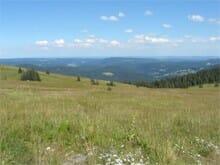 Blick hinunter vom Feldberg in Richtung Schwäbische Alb