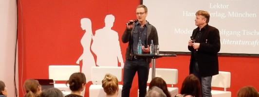 Florian Kessler auf der Bühne autoren@leipzig der Leipziger Buchmesse