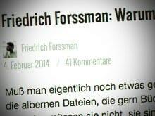 Polemik von Friedrich Forssman im Suhrkamp-Blog