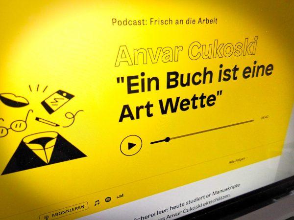 Podcast-Folge »Ein Buch ist eine Art Wette« bei ZEIT Online