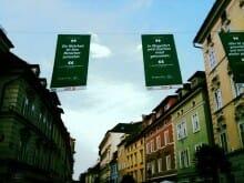 Literatur in Klagenfurts Fußgängerzone