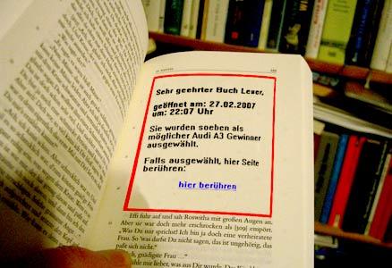Gerade entdeckt: Neue Formen der Buchwerbung