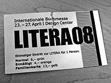 Eintrittskarte LITERA08
