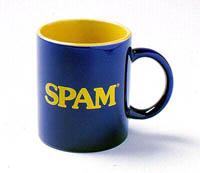 SPAM(tm)-Tasse aus dem SPAM-Fanshop von Hormel Foods Ltd.