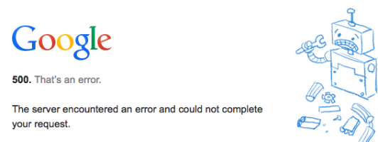 Screenshot fürs Archiv #google #kaputt #500