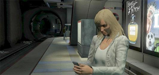 Selbst in der Welt von GTA lesen die Menschen im öffentlichen Nahverkehr keine Bücher mehr, sondern ihre Smartphones.