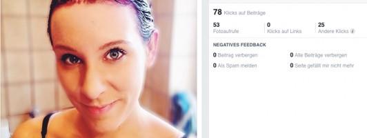 Beispiel: Facebook-Beitrag »Haar färben«