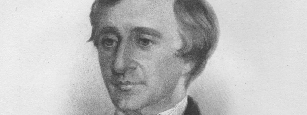 Henry David Thoreau. Kreidezeichnung von Samuel Worcester Rowse aus dem Jahre 1854. Thoreau wäre demnach 37 Jahre alt. (Foto: Wikipedia/Public Domain)