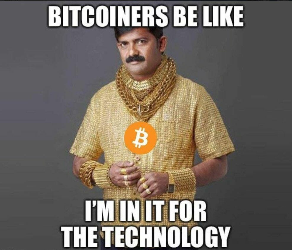 Bitcoiner: I'm in for the technology