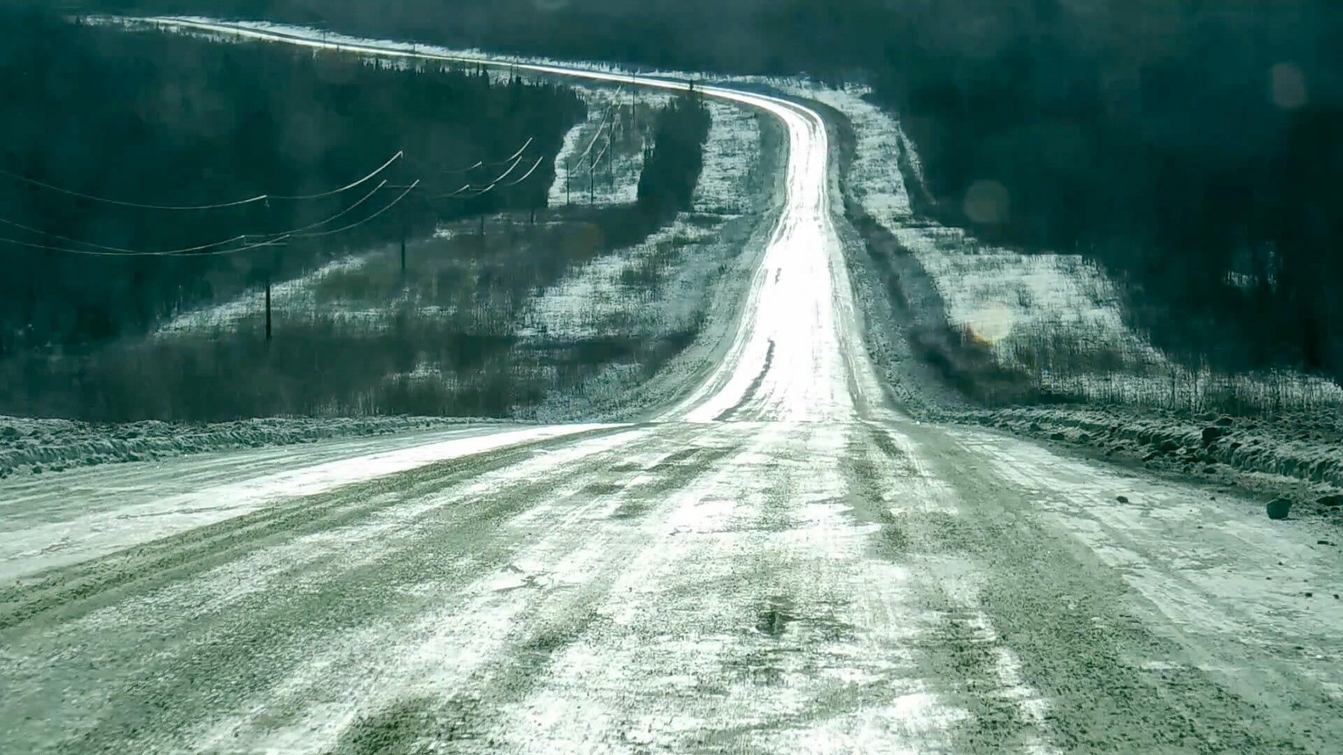 Rückfahrt mit dem Auto von Dawson nach Whitehorse. Gut 500 Kilometer mit wenig Gegenverkehr.