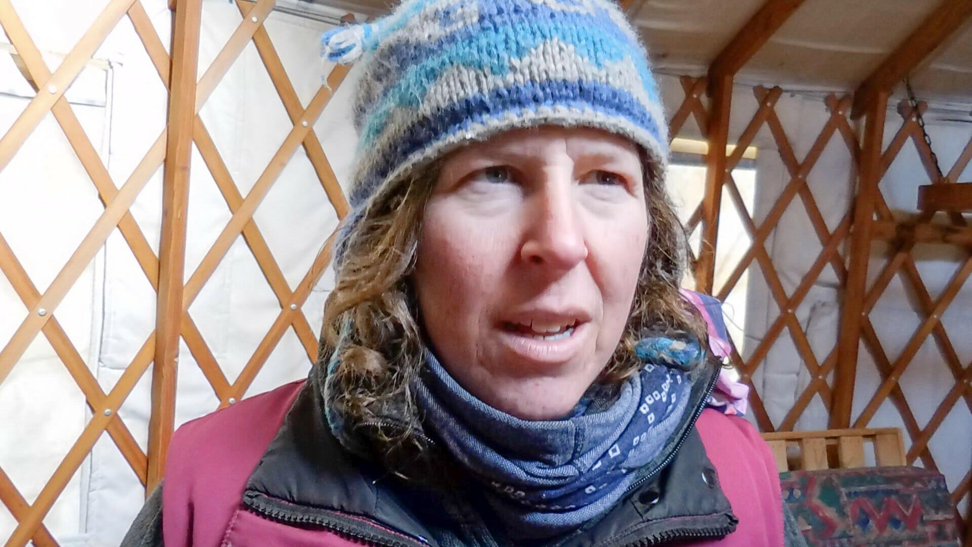 Die Musherin Joselin hat 2010 mit ihren Hunden selbst den Yukon Quest absolviert.