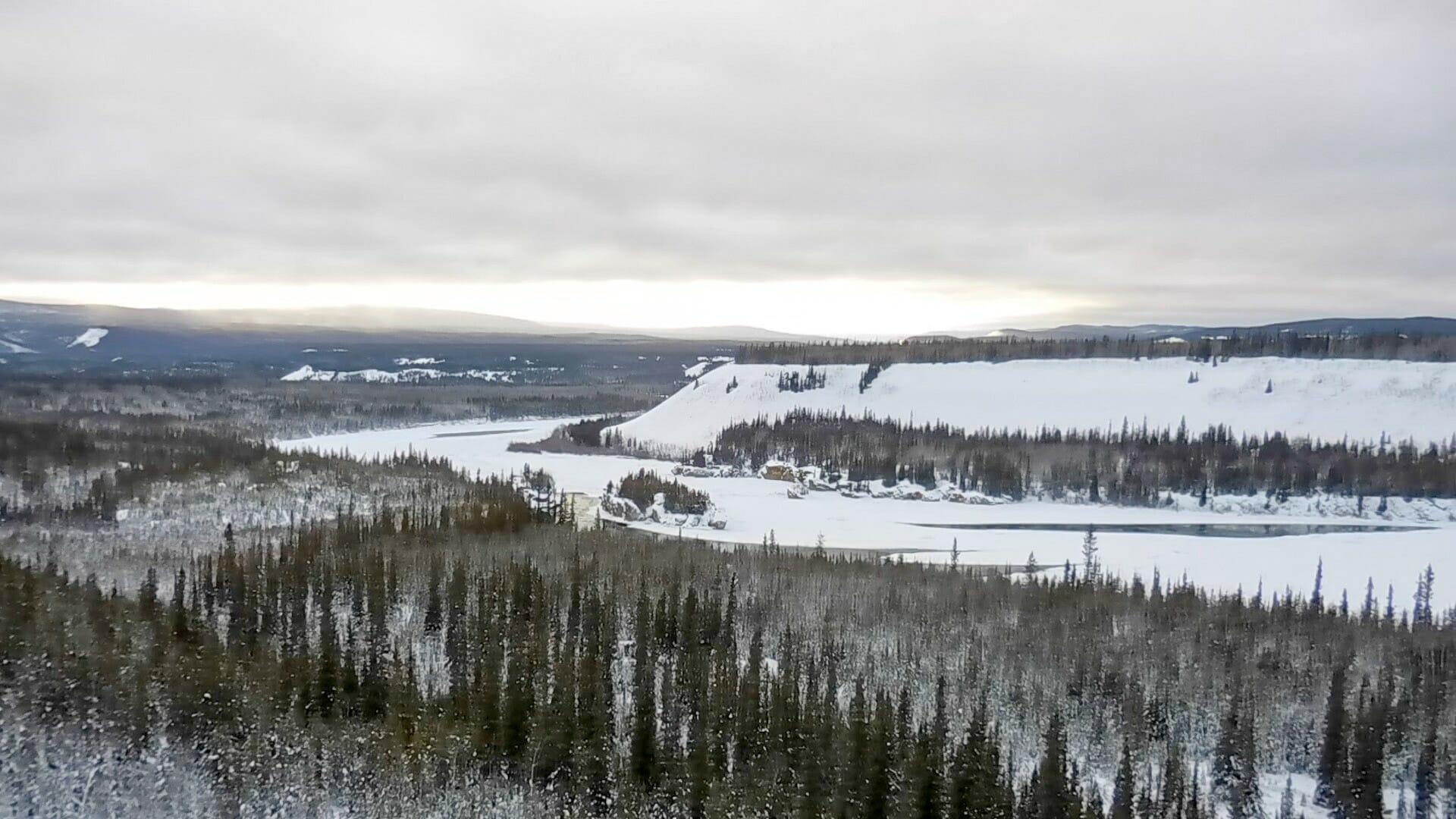 Die Five Finger Rapids, eine Felsformation am Yukon River zwischen Whitehorse und Dawson
