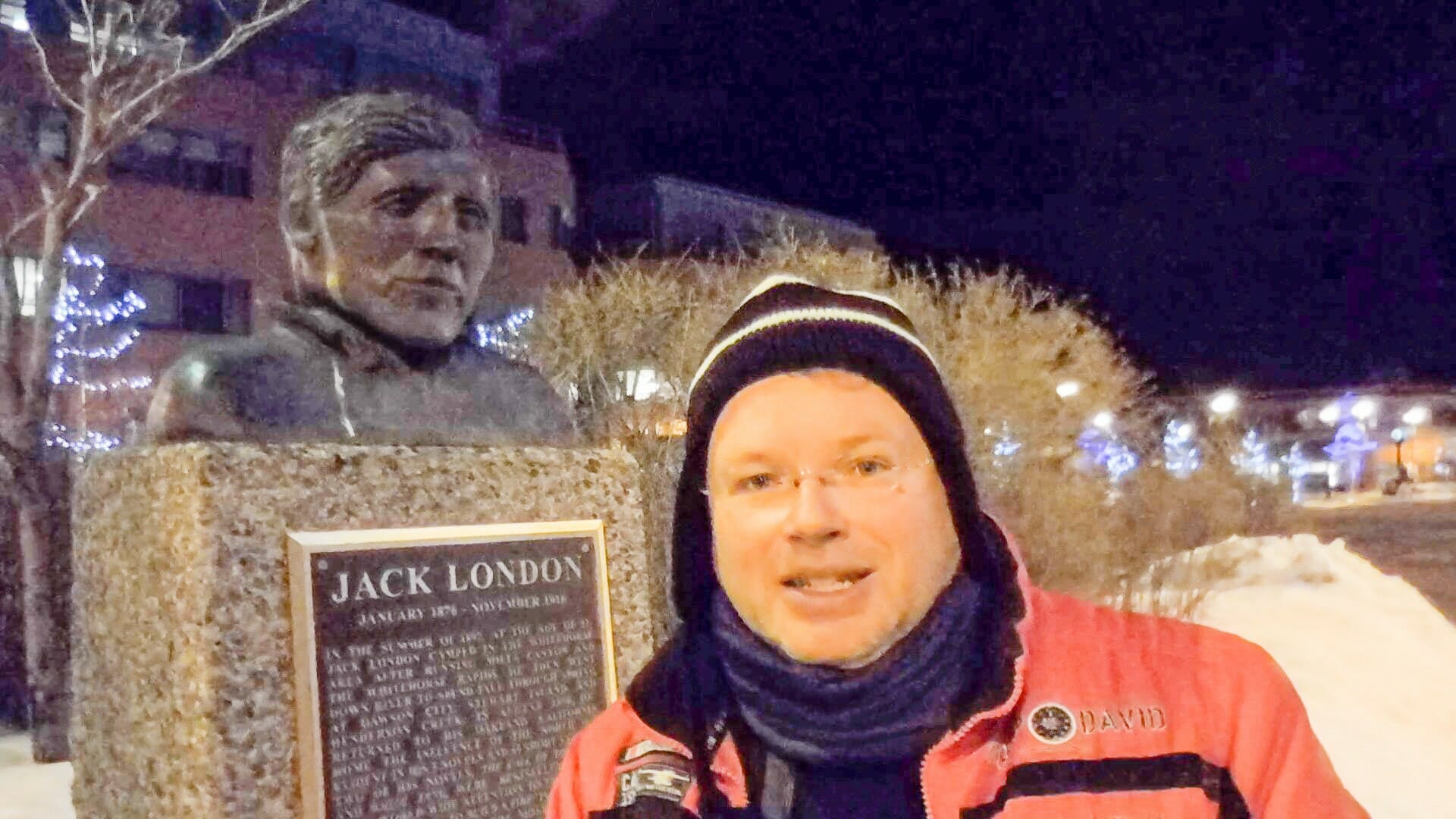 Erstes Treffen mit Jack London: In Whitehorse steht seine Büste.