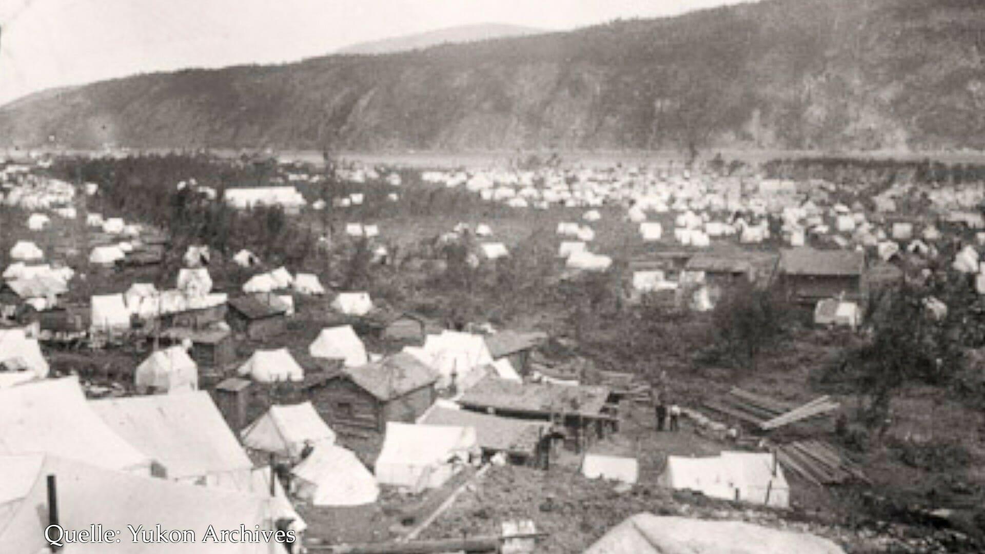 Als Jack London 1887 in Dawson war, bestand die Stadt fast nur aus Zelten.