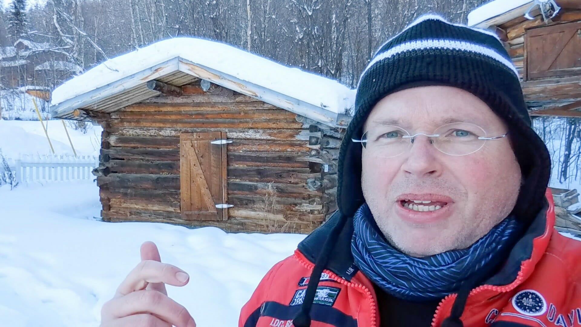 In einem kleinen Museum steht heute die Hütte, in der Jack London den Winter 1887/1898 verbrachte.