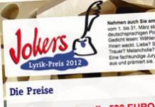Nur im März: Der 10 Jokers Lyrik-Preis hat begonnen
