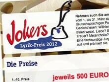 Jokers Lyrikpreis 2012
