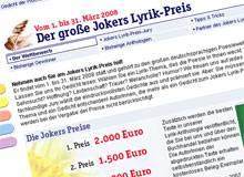 Jokers Lyrik-Preis 2008: 2.000 Euro für das beste Gedicht
