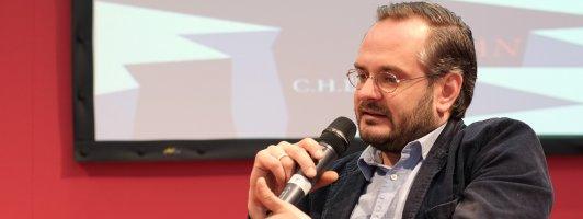 Jonas Lüscher im Gespräch mit Wolfgang Tischer (Foto: Birgit-Cathrin Duval)