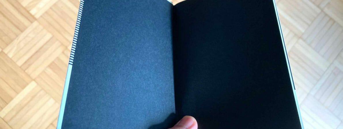 Schwarzes Vorsatzpapier