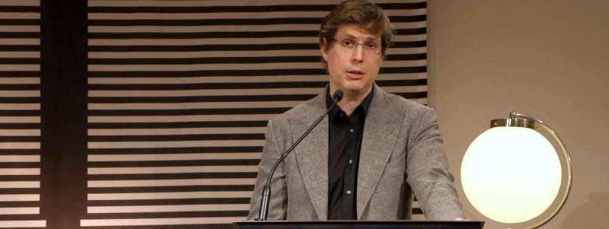 Daniel Kehlmann hält die 1. Stuttgarter Zukunftsrede am 9. Februar 2021 im Stuttgarter Schriftstellerhaus.