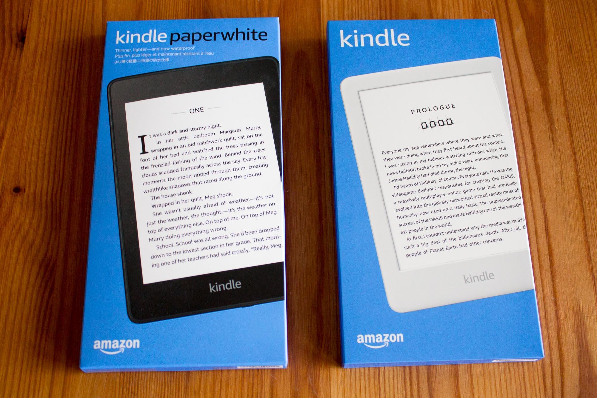 Kindle und Kindle Paperwhite 2019 im Vergleich: Wozu die
