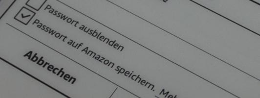 Besser sicher als bequem: Den Haken zum Speichern des WLAN-Passworts auf Amazon-Servern sollten Sie besser entfernen.