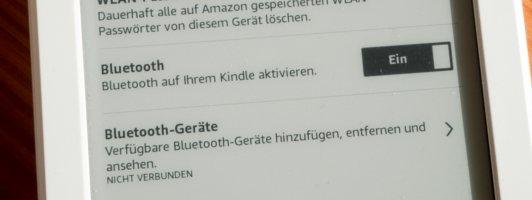 Zur Audio-Wiedergabe wird ein Bluetooth-Gerät benötigt