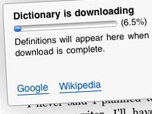 Kindle Wörterbuch wird auf dem iPhone heruntergeladen