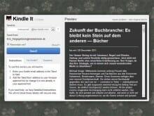 Mit der Browser-Erweiterung »Kindle it« lassen sich Web-Texte rasch ins Kindle-Format umwandeln und per Mail ans eigene Lesegerät senden.
